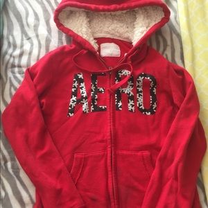 Aeropostale snowflake hooded full zip